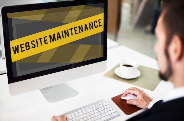 Website in aanbouw foutconcept