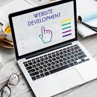 Website ontwikkeling links seo webinar cyberspace concept