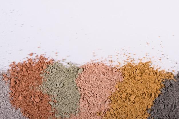 Weefselverloop van verschillende cosmetische kleipoeders