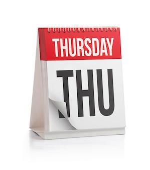 Weekkalender, donderdagpagina