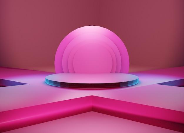 Weergave van abstract scène geometrie podium voor productstandaard