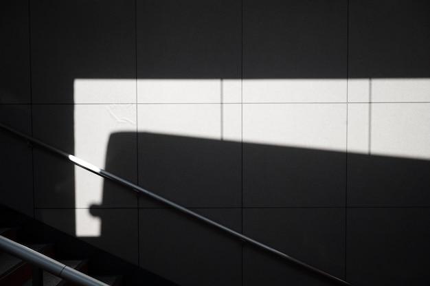Weergave van abstracte buiten daglicht schaduwen