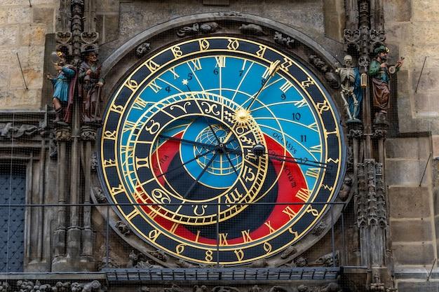 Weergave van astronomische klok in de oude binnenstad van praag