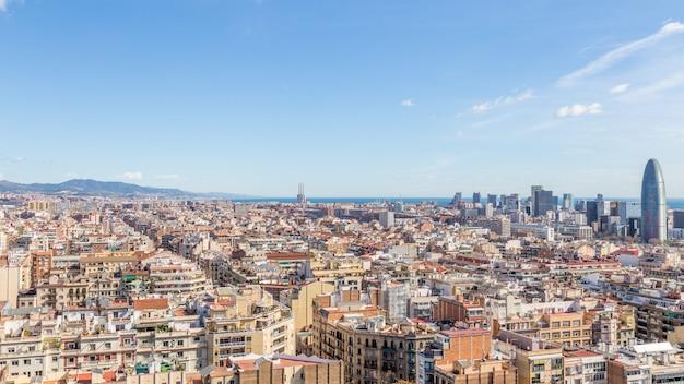 Weergave van de stad barcelona