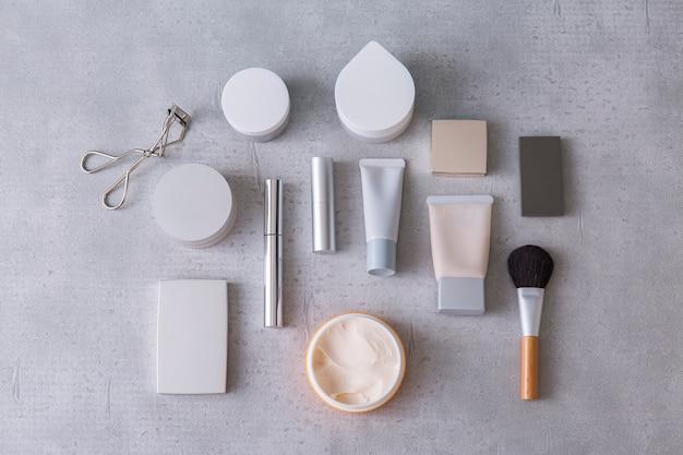 Weergave van een set van make-up tools