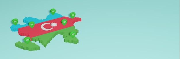 Weergave van gebruik en distributie van sociale media op facebook in azerbeidzjan voor infographics