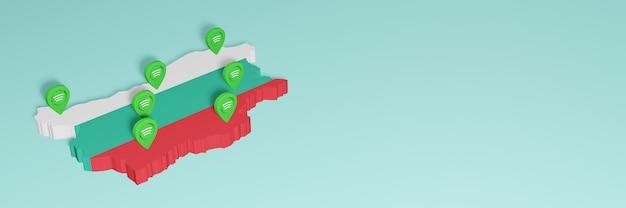 Weergave van gebruik en distributie van sociale media op facebook in bulgarije voor infographics
