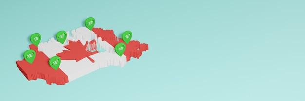 Weergave van gebruik en distributie van sociale media op facebook in canada voor infographics