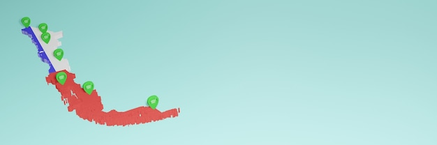 Weergave van gebruik en distributie van sociale media op facebook in chili voor infographics