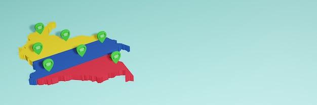 Weergave van gebruik en distributie van sociale media op facebook in colombia voor infographics