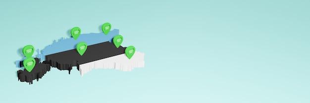 Weergave van gebruik en distributie van sociale media op facebook in estland voor infographics
