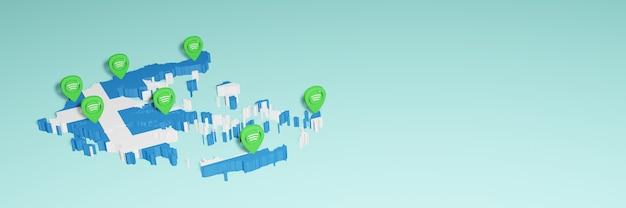 Weergave van gebruik en distributie van sociale media op facebook in griekenland voor infographics