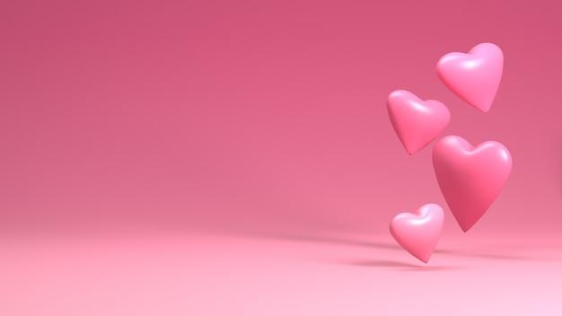 Weergave van hart in dag van de valentijnskaart