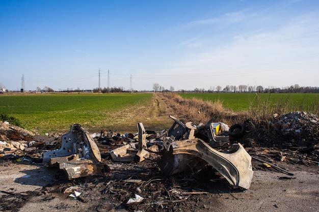 Weergave van illegale stortplaats