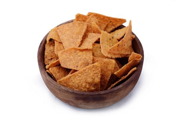 Weergave van kom nachos