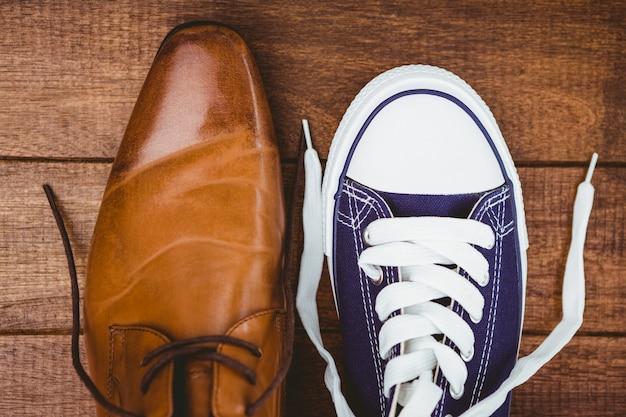 Weergave van twee verschillende schoenen