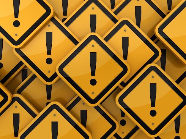 Weergave van verkeersbord met uitroepteken