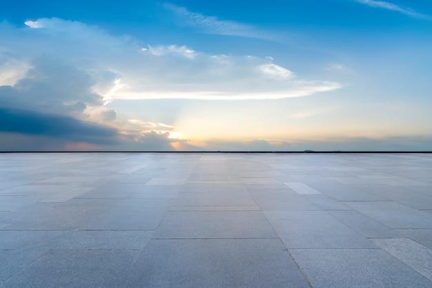 Weg grond en lucht wolk landschap