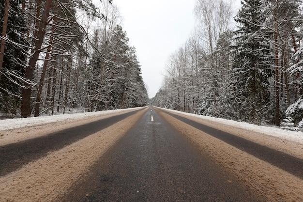 Weg in de winter