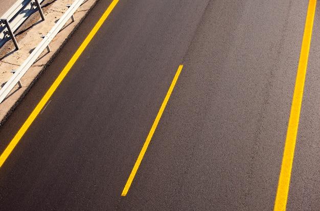 Weg van een nieuwe autobahn