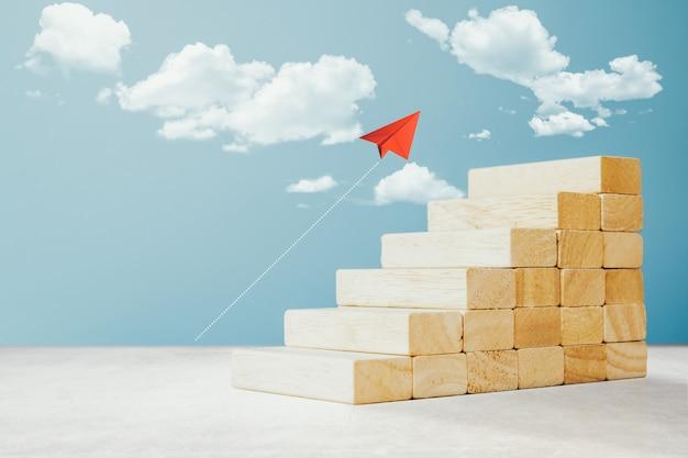 Weg van succes in bedrijfsgroei concept.