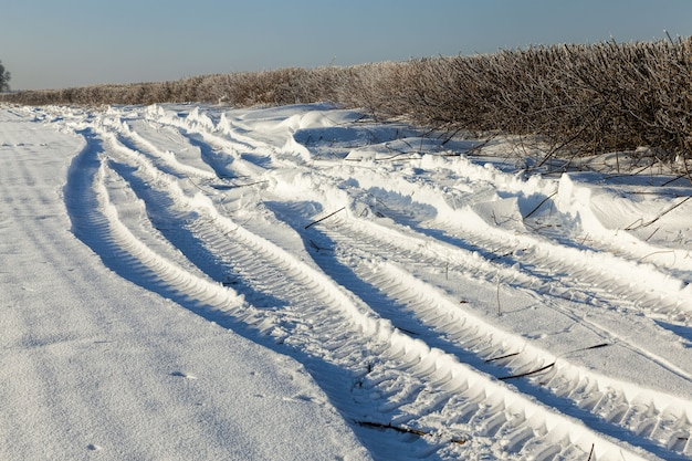Weg winterlandschap