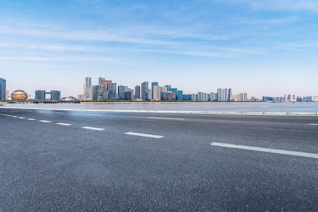 Wegen en architectonisch landschap van moderne chinese steden