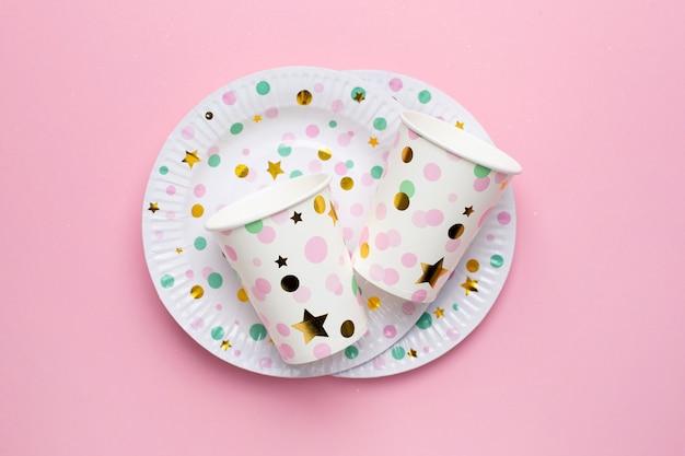 Wegwerp papierwerk eco papieren borden borden en glazen