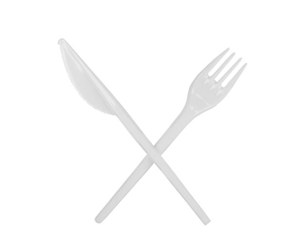 Wegwerp plastic lepel mes en vork
