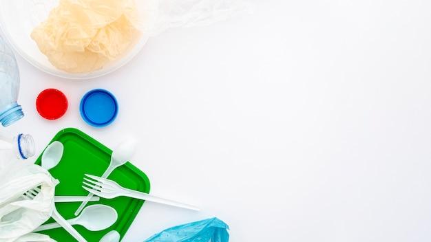 Wegwerp serviesgoed van helder plastic