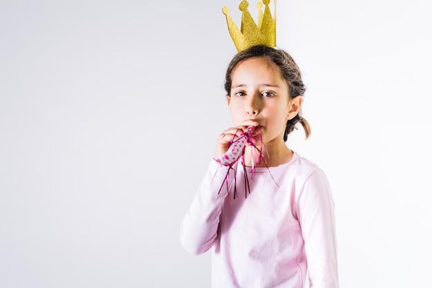 Weinig prinses blazende feesthoorn