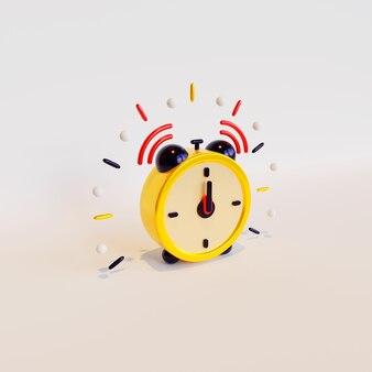 Wekker driedimensionale weergave geschikt voor nieuwjaarsviering