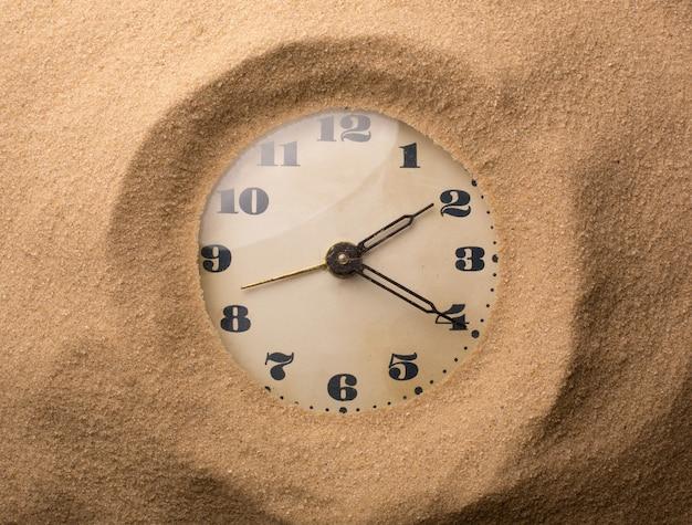 Wekker in zand
