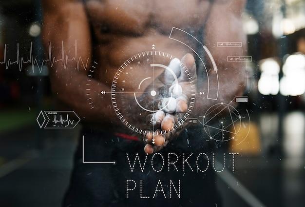 Wellness gezondheid lifestyle workout grafisch woord