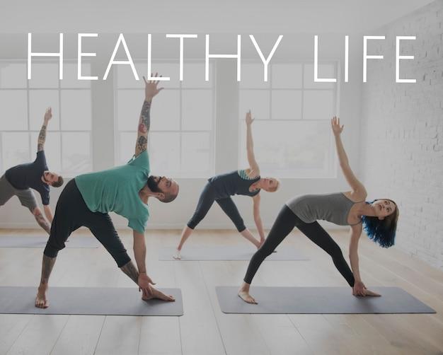 Wellness gezondheid woorduitdrukking mix