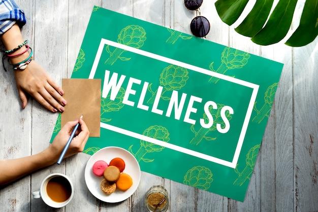Wellness lifestyle vernieuwen bloem