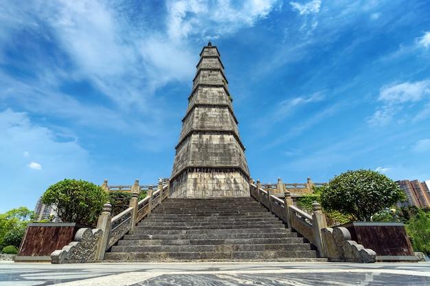 Wenfeng tower werd gebouwd in 1840 in duyun, guizhou, china.