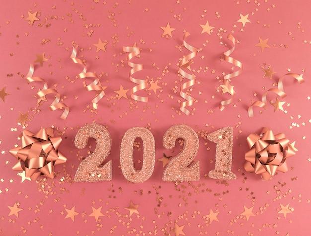 Wenskaart van het nieuwe jaar 2021