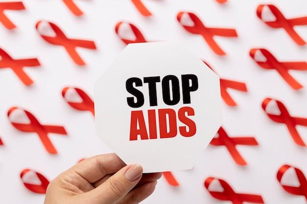 Wereld aids dag concept arrangement