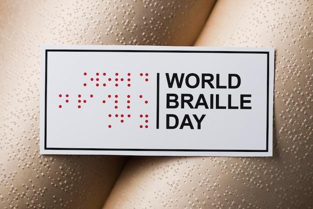 Wereld braille dag met boek