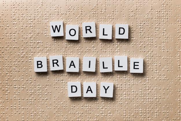 Wereld braille dagviering