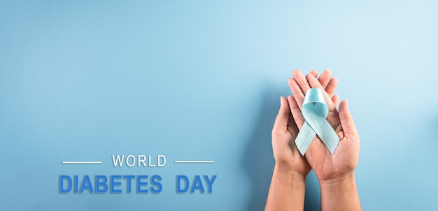 Wereld diabetes dag concept.
