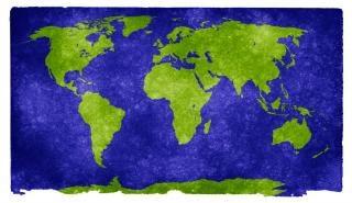Wereld grunge kaart vuil