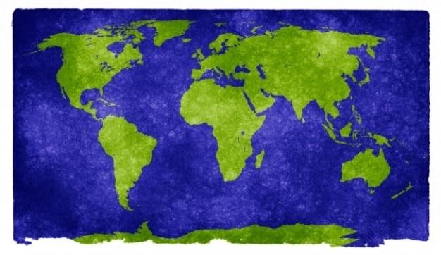 Wereld grunge kaart