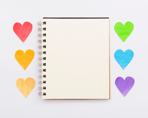 Wereld happy pride dag notebook