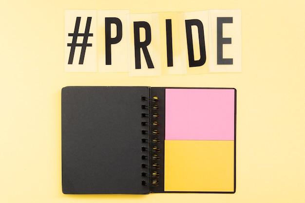 Wereld happy pride day post-it notes