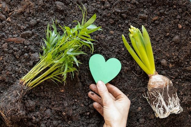 Wereld milieu dag arrangement op de grond