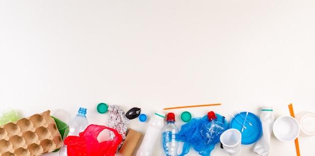 Wereld milieu dag. plastic vervuiling