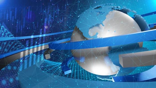 Wereld verbonden. sociaal netwerkconcept, 3d-rendering