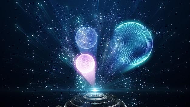 Wereldbol met abstracte digitale cirkel